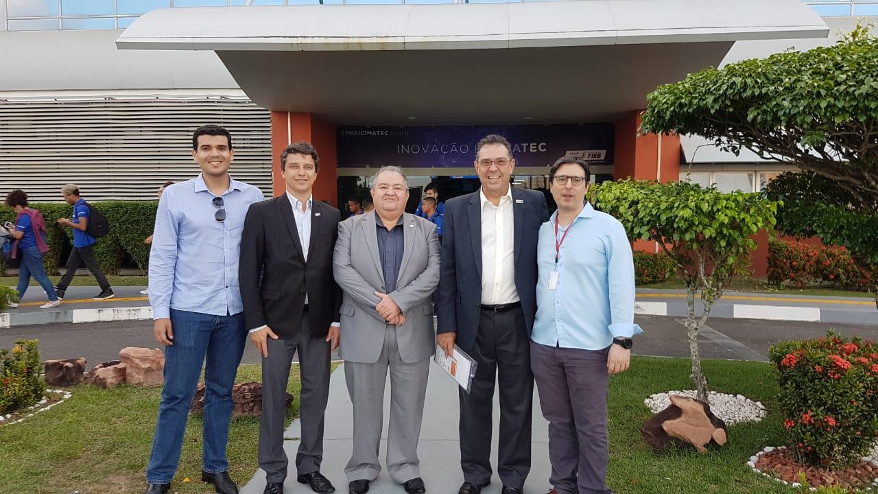 Presidente do Cic visita Cidacs com comitiva da Fio Cruz Ceará