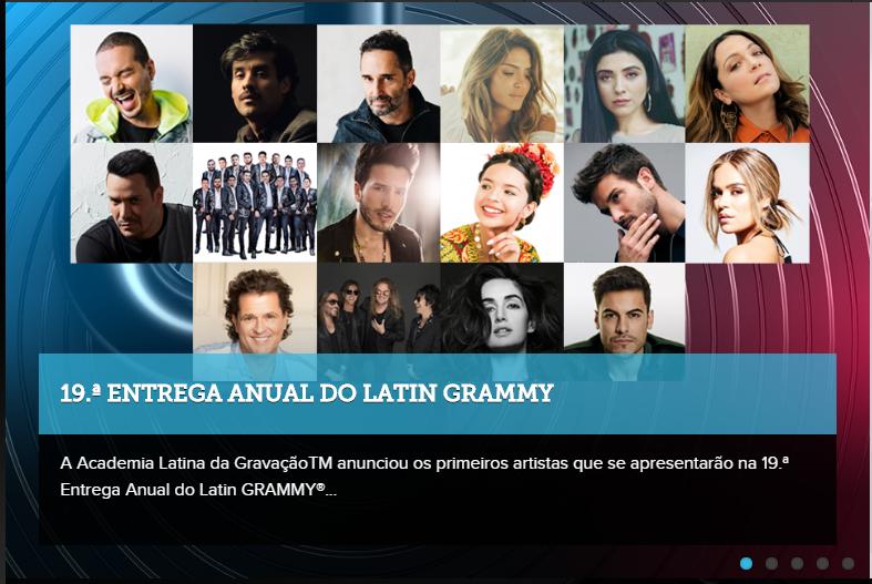 Academia Latina da GravaçãoTM anunciou a primeira relação de artistas