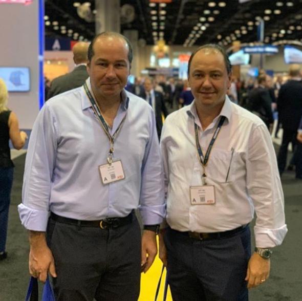 Ariston Pessoa e Joaquim Araujo participam da mais importante feira da aviação executiva