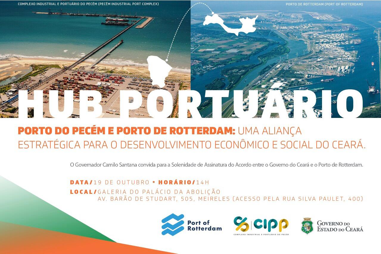 Governador Camilo Santana assina acordo com o Porto de Rotterdam