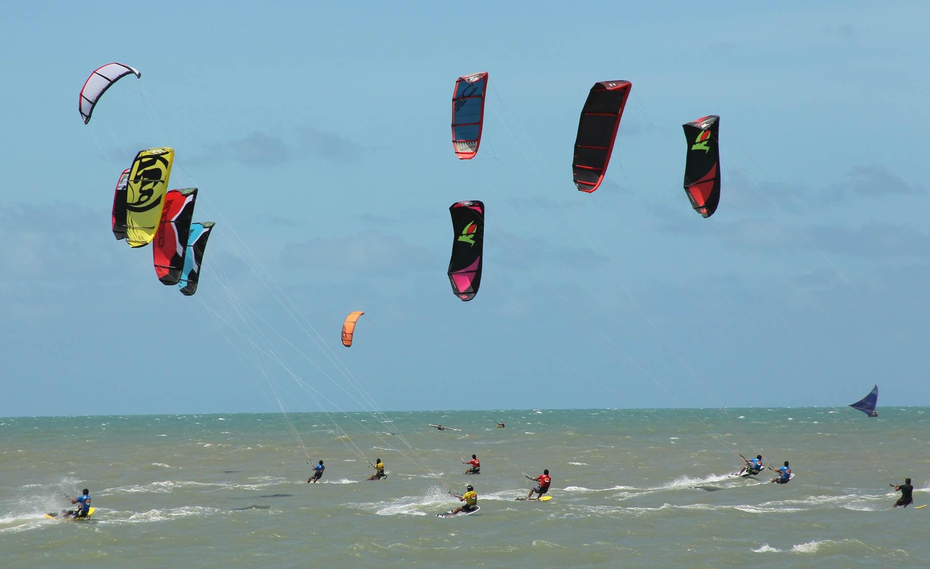 O Ceará é palco de kitesurfe no mundo