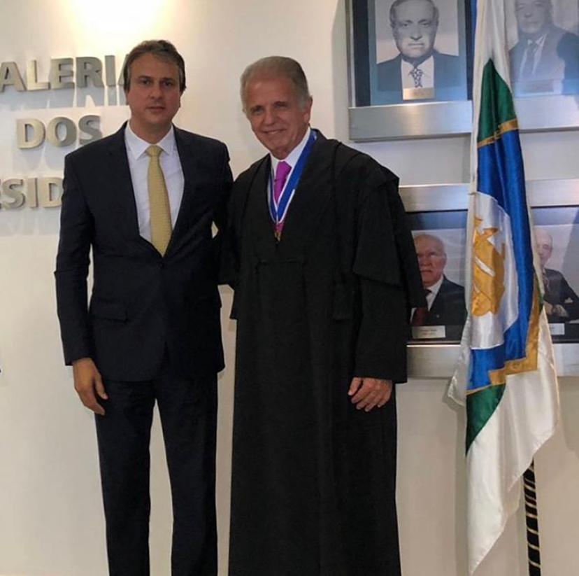 Camilo Santana participo da posse do Presidente do TCU José M. Monteiro