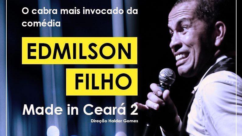 Edmilson Filho apresenta seu novo show de humor no Theatro Via Sul Fortaleza