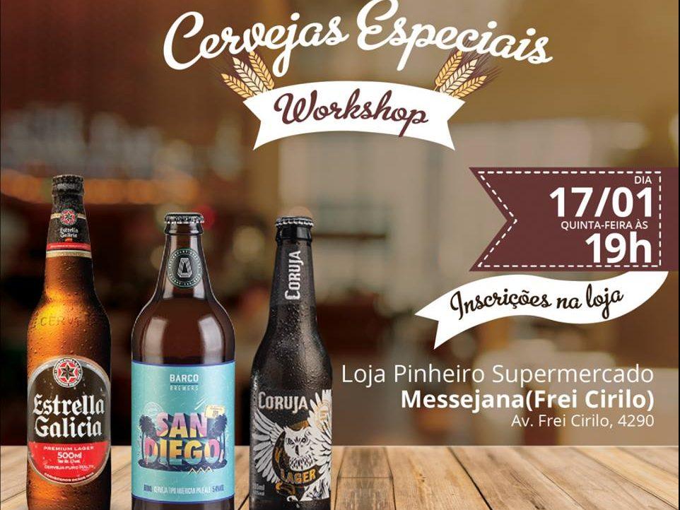 Pinheiro Supermercado abre inscrições para workshop de cervejas especiais