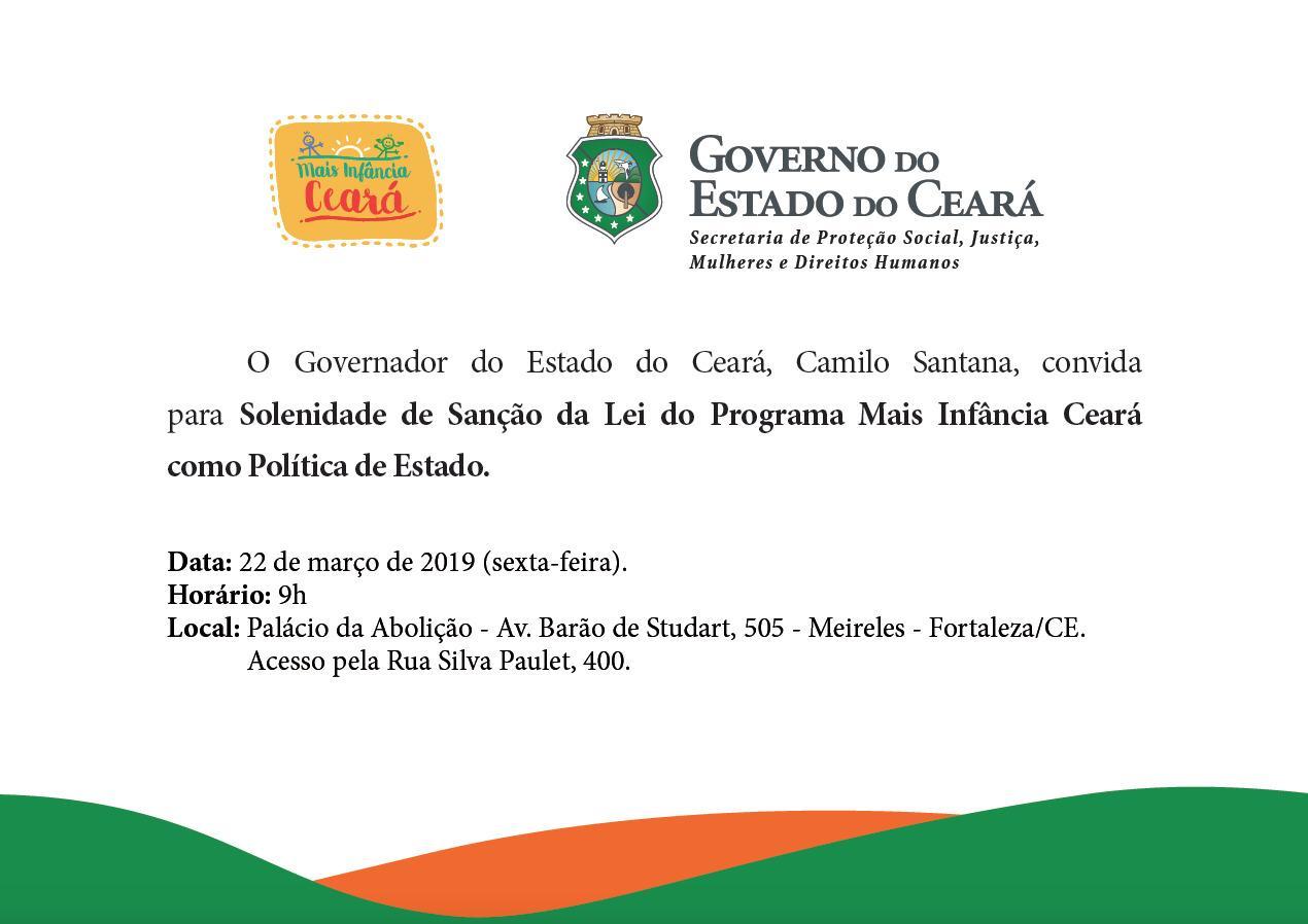 Ceará inova ao transformar Mais Infância Ceará em política pública estadual