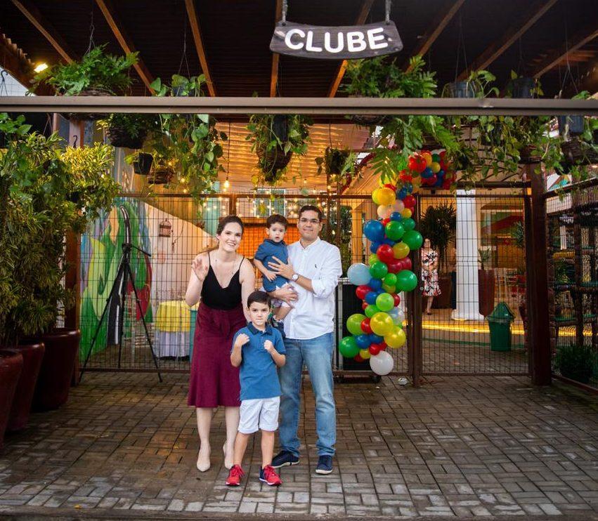 Graziela Costa Lima comemora aniversário de herdeiros no Eco Clube Casa