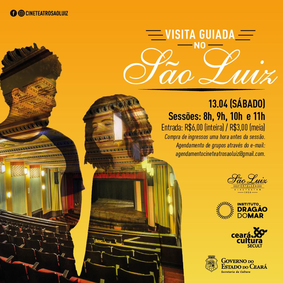 ABRIL PRA CIDADE Cineteatro São Luiz com novidades: equipamento realizará Visitas Guiadas