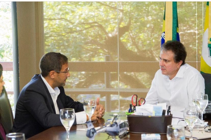 Camilo Santana esteve reunido com o CEO e os diretores da Angola Cables