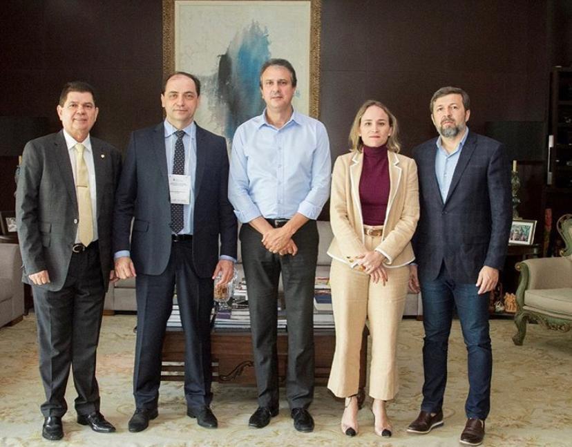 O governador Camilo Santana recebeu o Secretário Especial da Fazenda do Ministério da Economia, Waldery Rodrigues