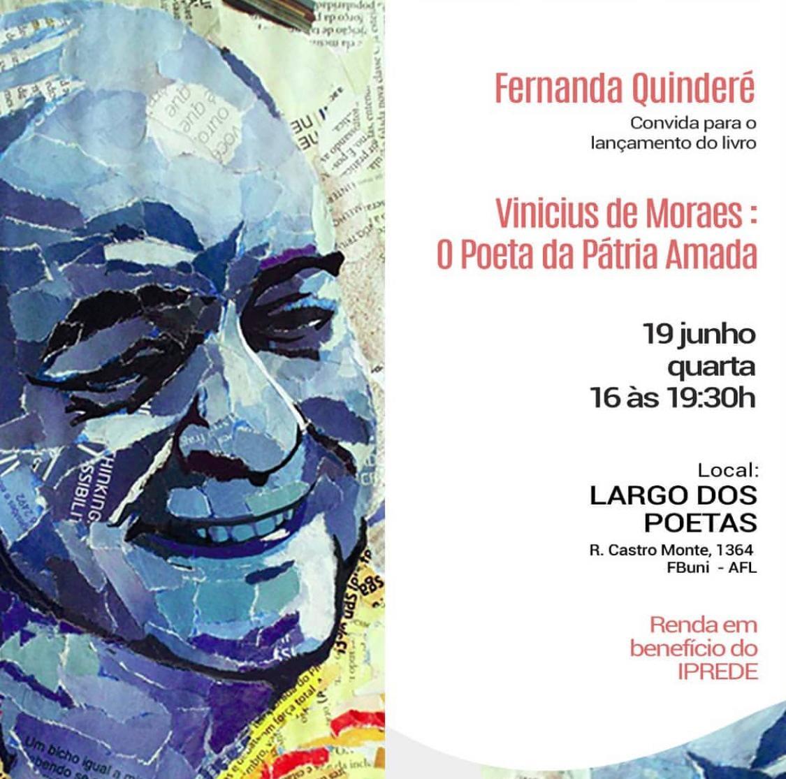 Fernanda Quinderé convida todos para o lançamento de seu novo livro amanhã(19)