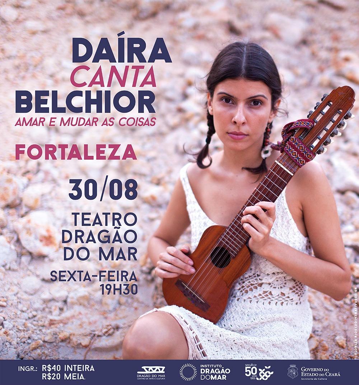 """""""Daíra canta Belchior"""" apresenta show inédito no Teatro Dragão do Mar"""