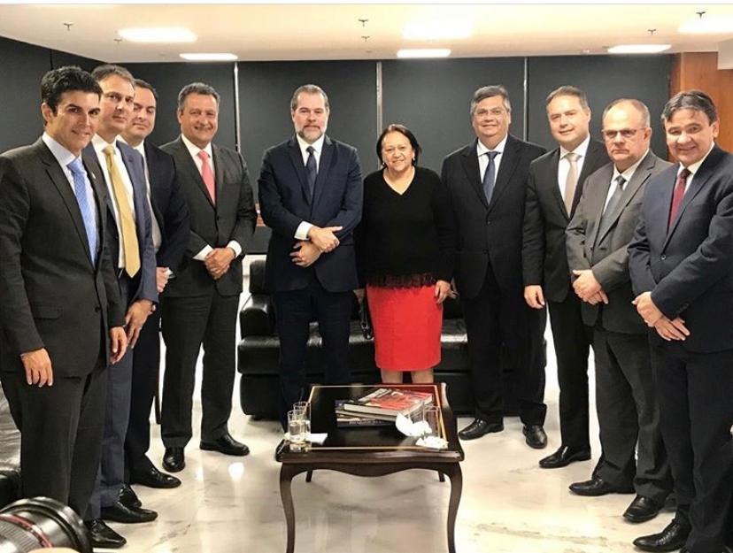 Camilo Santana esteve reunido com o presidente do Supremo Tribunal Federal