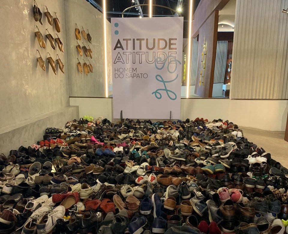 """Brand Homem do Sapato recebe doação de calçados antigos na campanha solidária """"Atitude HS"""""""