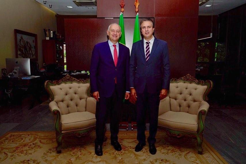 Camilo Santana recebe o embaixador da Itália na Sede do Governo