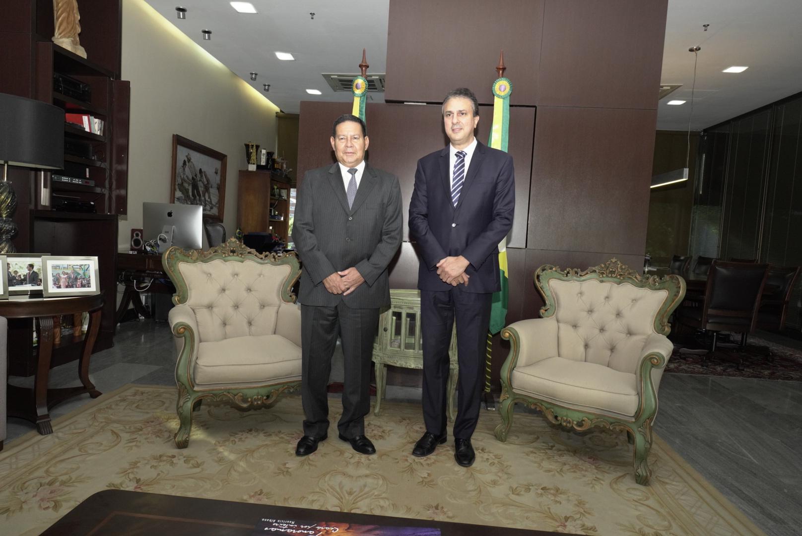 Governador recebe o vice-presidente da República no Palácio da Abolição