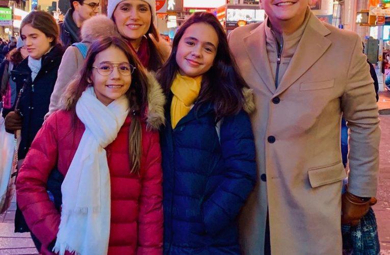 Ricardo Bacelar passa férias com sua família em New York
