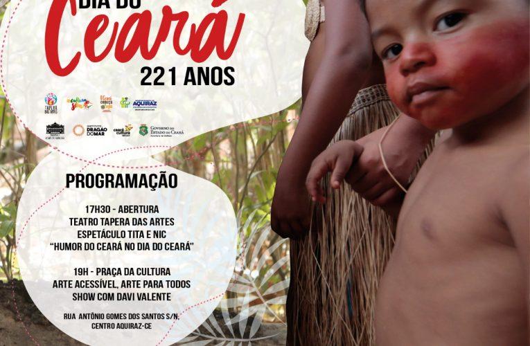 221 anos: Dia do Ceará é comemorado nesta sexta (17), em Aquiraz e Fortaleza