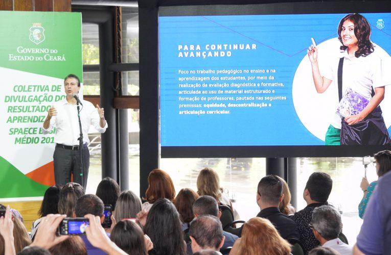 Spaece 2019 mostra avanço do Ceará em aprendizagem no Ensino Médio