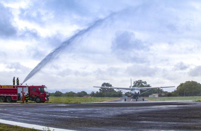Aeroporto de Iguatu é reinaugurado após reforma e recebe primeiro voo comercial