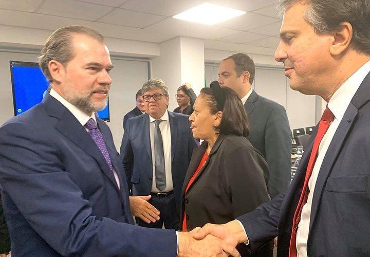 O governador do Ceará Camilo Santana participou de reunião com o presidente do Supremo Tribunal Federal, ministro Dias Toffoli