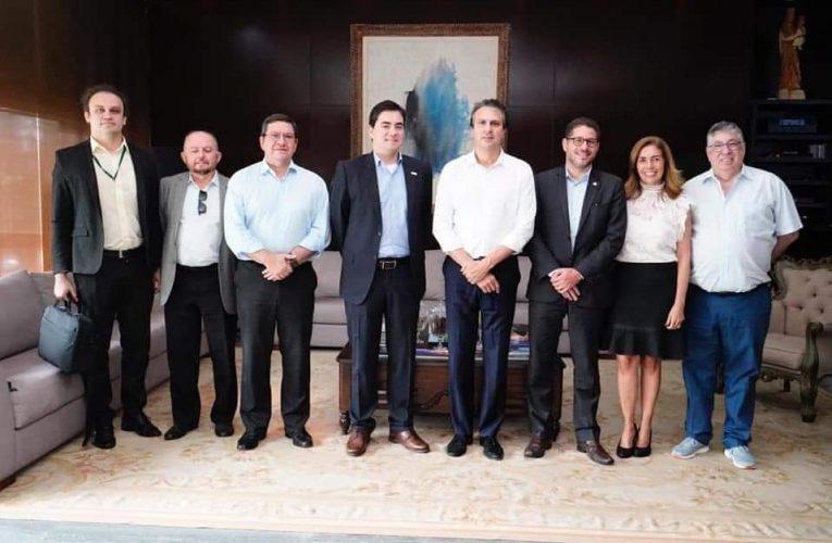 Governador do Ceará Camilo Santana recebe Fábio Abrahão presidente do BNDES