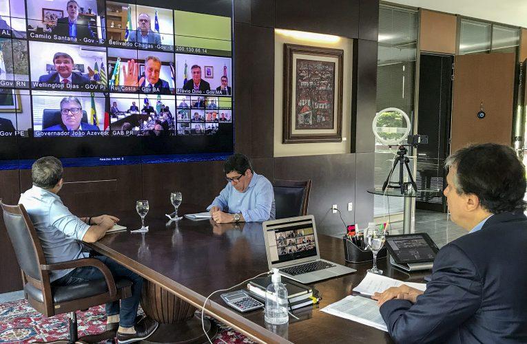 Governador Camilo Santana saiu otimista da reunião que teve com o presidente Jair Bolsonaro