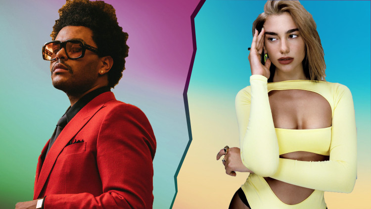 The Weeknd e Dua Lipa lideram parada de singles da United World Chart
