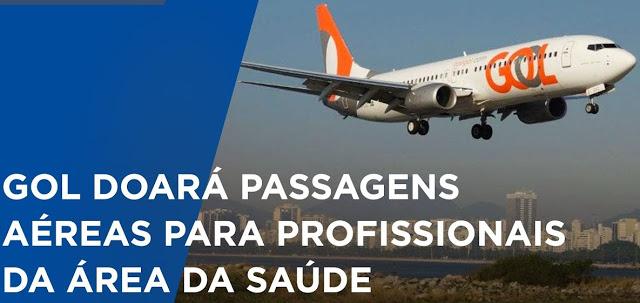 Gol oferece passagens aéreas gratuitas a profissionais de saúde