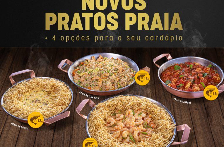 Cocobambu lança quatro novos Pratos Praia com camarão #ChamaNoDelivery ou peça pelo Ifood!