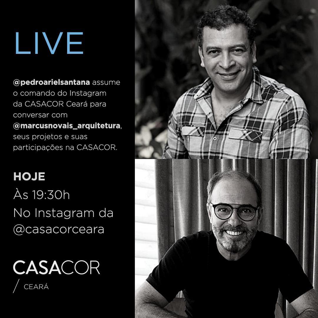 CasaCor promove Live com Pedro Ariel Santana e Marcus Novais