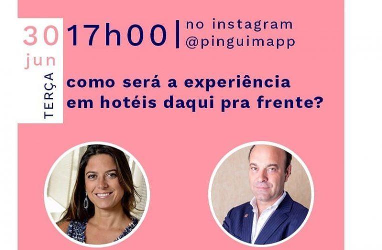 A plataforma Pinguim realiza live com participação de Renata Francofounder da Startup e Pedro Ribeiro diretor comercial Brasil e Portugal do Dom Pedro Hotels & Golf
