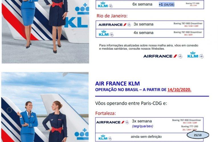 Grupo Air France-KLM anuncia 18 voos semanais para o Brasil