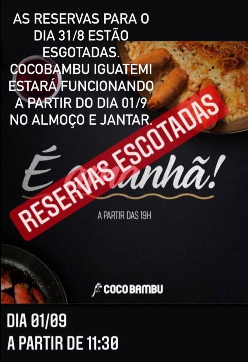 Coco Bambu inaugura megacomplexo gastronômico e tem reservas Esgotadas