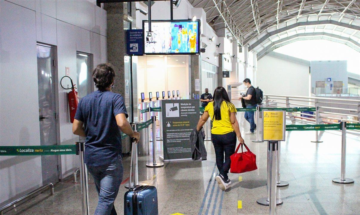 Fortaleza Airport implanta medição de temperatura por câmeras