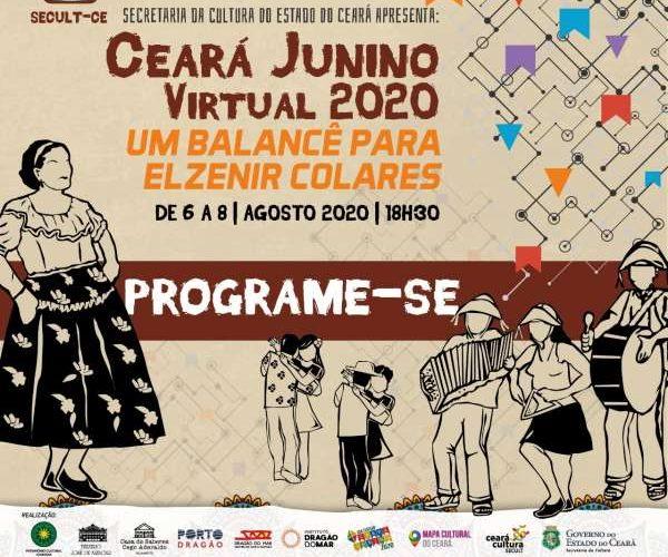 O tradicional festejo, com programação bonita, animada e bem florida, acontece entre os dias 6 e 8 de agosto, sempre às 18h30min no Youtube da Secult Ceará