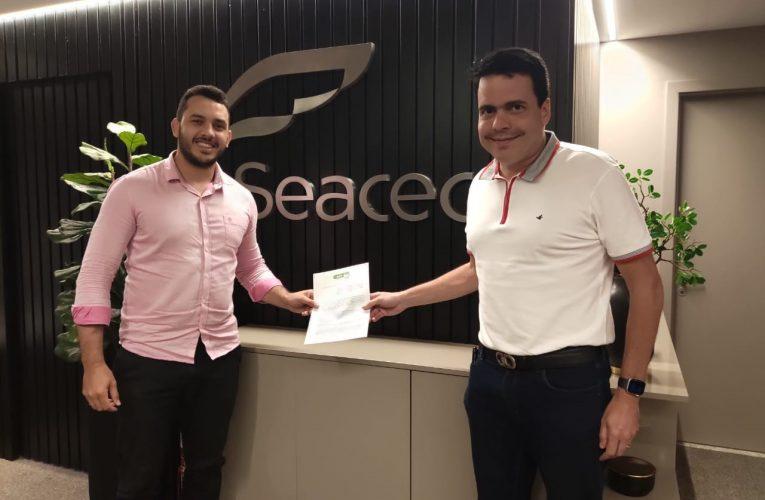 AJE Fortaleza fecha parceria com Seacec e lança o projeto Jovem Exportador