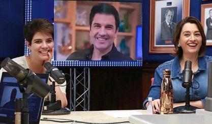 Catia Fonseca dá boas vindas a Edu Guedes e Mariana  Godoy