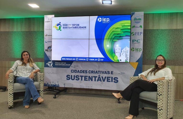 Gerente de Meio Ambiente do Beach Park participa da 13ª edição do Fórum IEP de Sustentabilidade