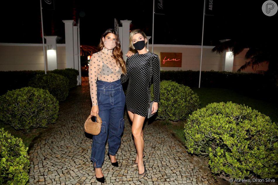Giulia Costa inaugurar o restaurante Feu, no bairro da Itanhangá, Rio