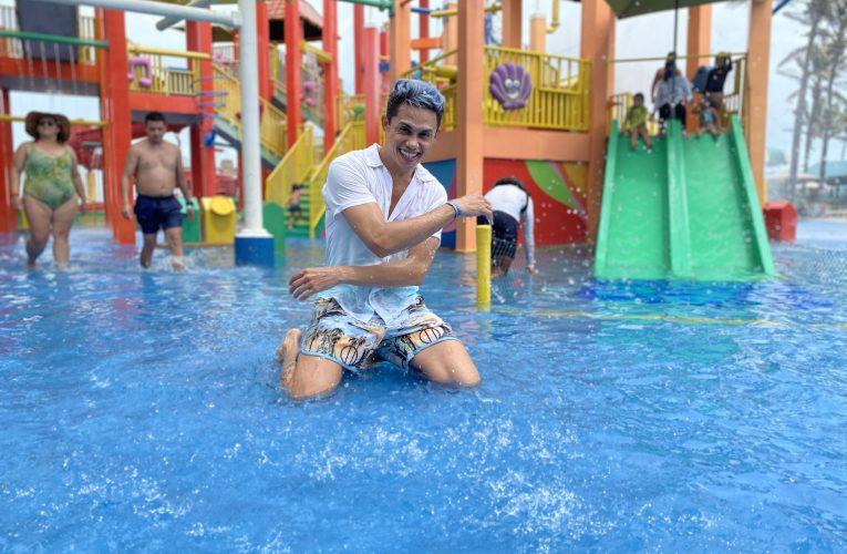 Silvero Pereira curte dia no Beach Park antes de partir para gravação de novo filme