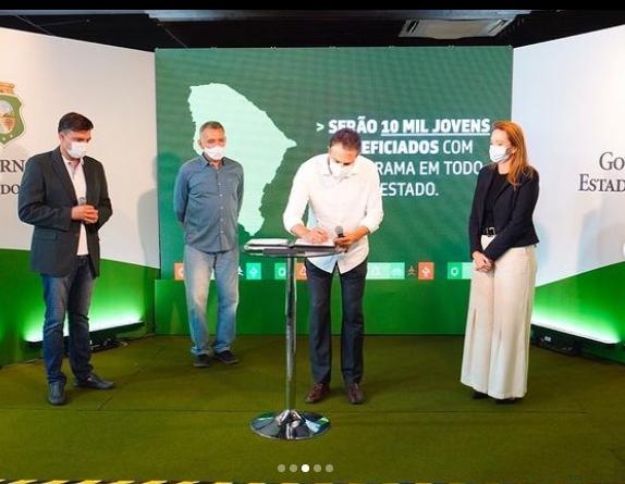 Governo do estado do Ceará lança o programa  programa AJA – Agente Jovem Ambiental