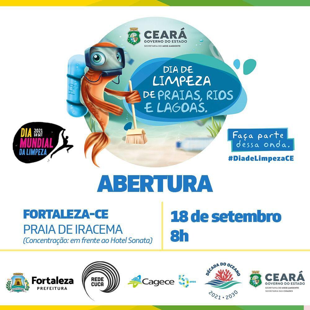 Dia Mundial da Limpeza 2021 acontece neste sábado e terá ações na Praia de Iracema e no Cumbuco