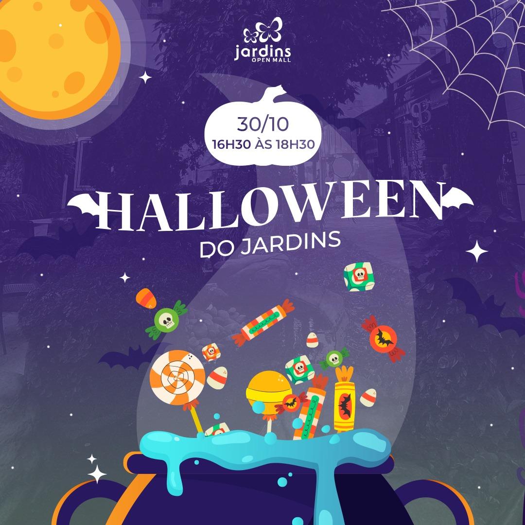 Jardins Open Mall promove programação gratuita de Halloween para as crianças
